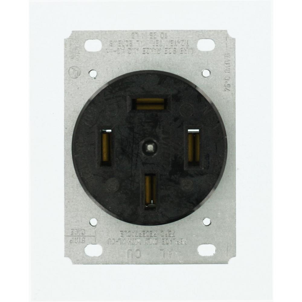 Leviton 60 Amp 120/208-Volt Flush Mounting Non-Grounding Outlet ...
