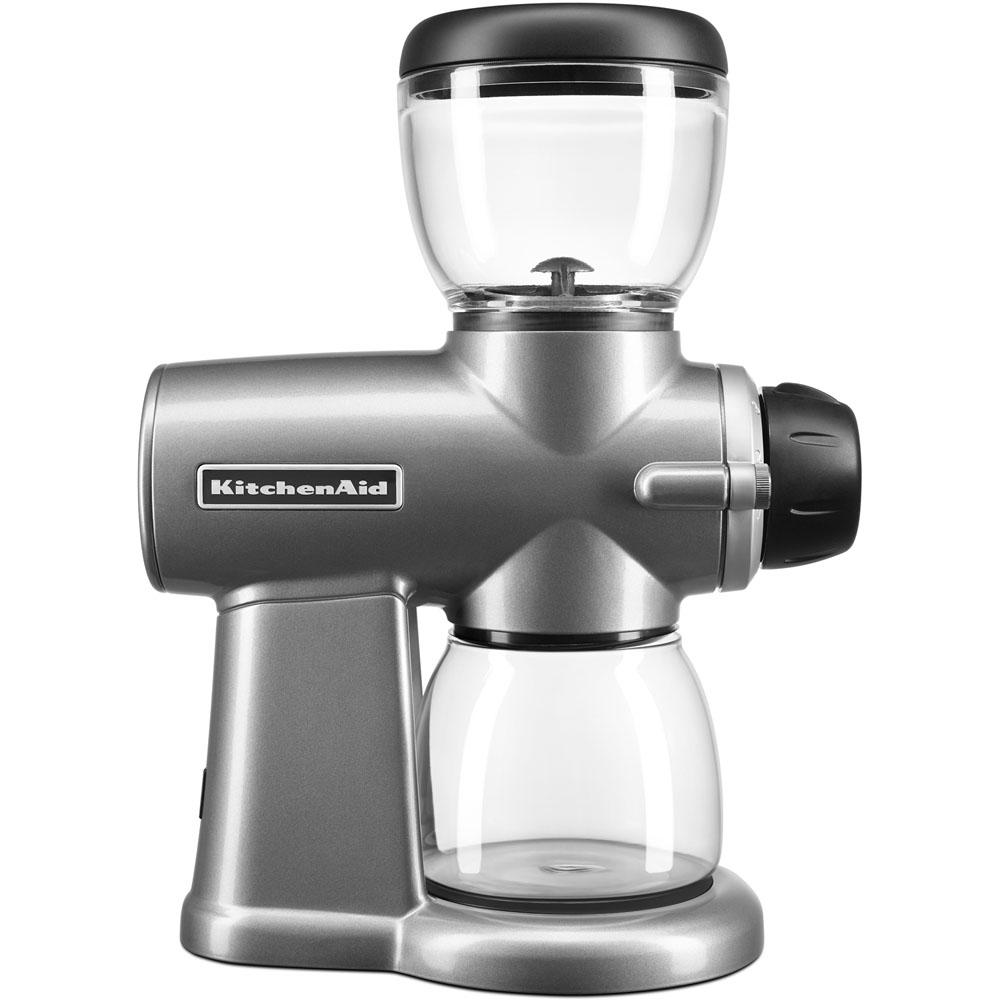 KitchenAid Burr Coffee Grinder, Contour Silver