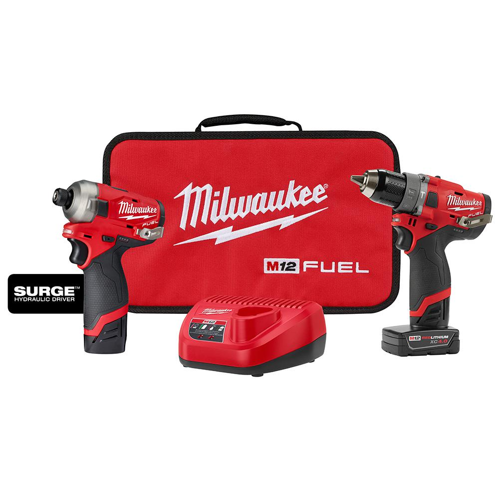 12-Volt Lithium-Ion Cordless 2-Batteries Milwaukee Drill and Driver Kit 3//8 in