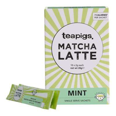 Matcha Mint 10 Tea Bags Sachets (6-Boxes)