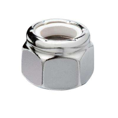 1/4 in.-20 Chrome Nylon Lock Nut (4-Pack)