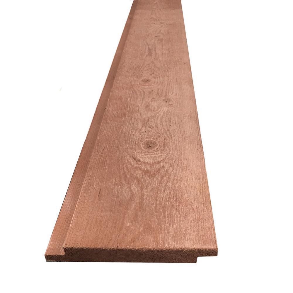 1 in. x 6 in. x 8 ft. Brown Barn Wood Pine Shiplap Board (6-Piece per Box)