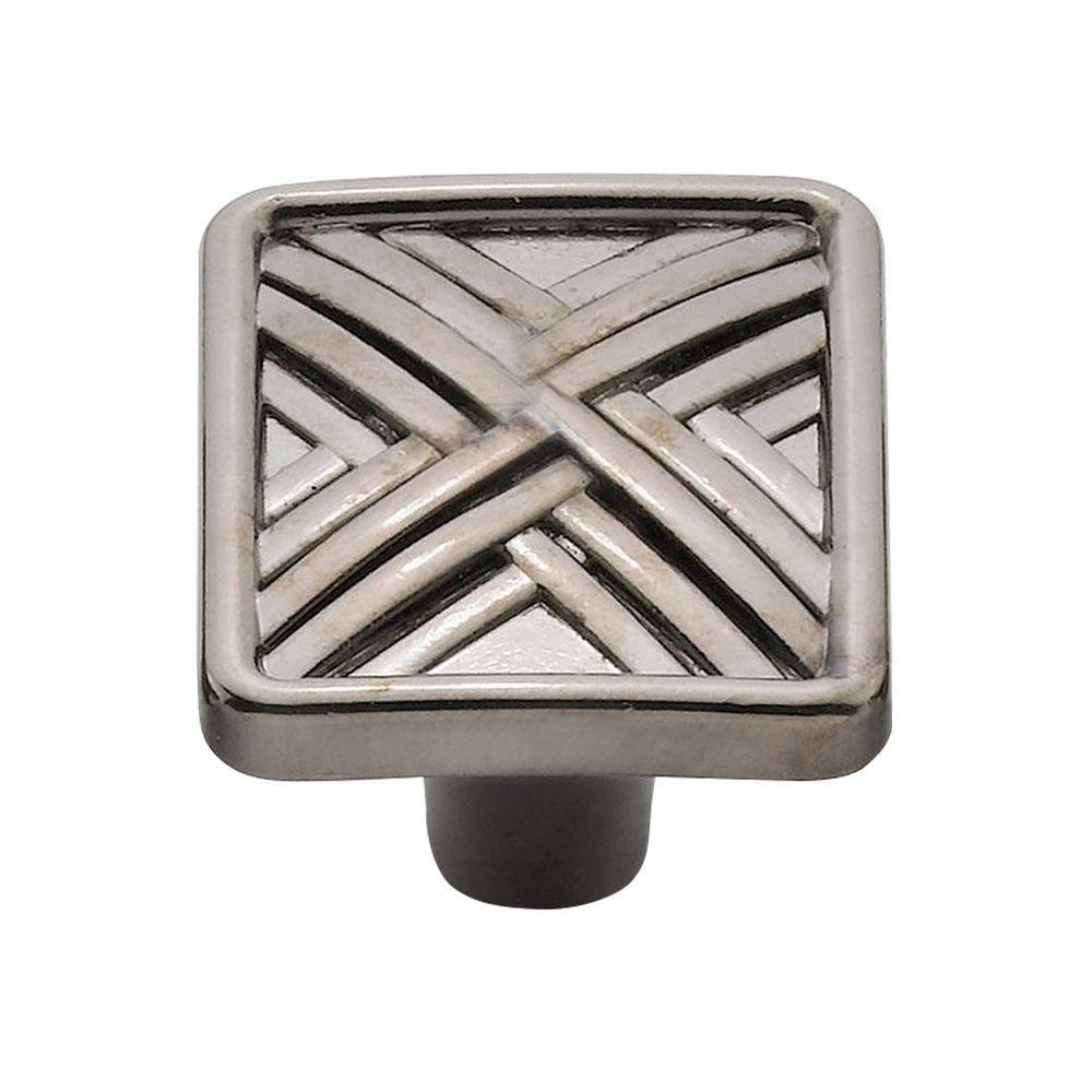 1.5 in. Black Nickel Hard Cross Knob