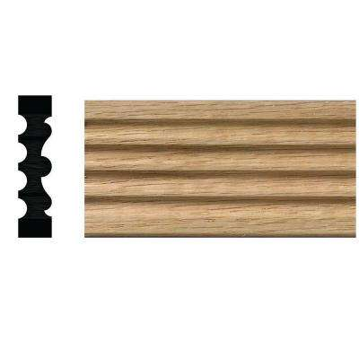 1/2 in. x 2-1/8 in. x 84 in. Natural Oak Fluted Victorian Casing Moulding