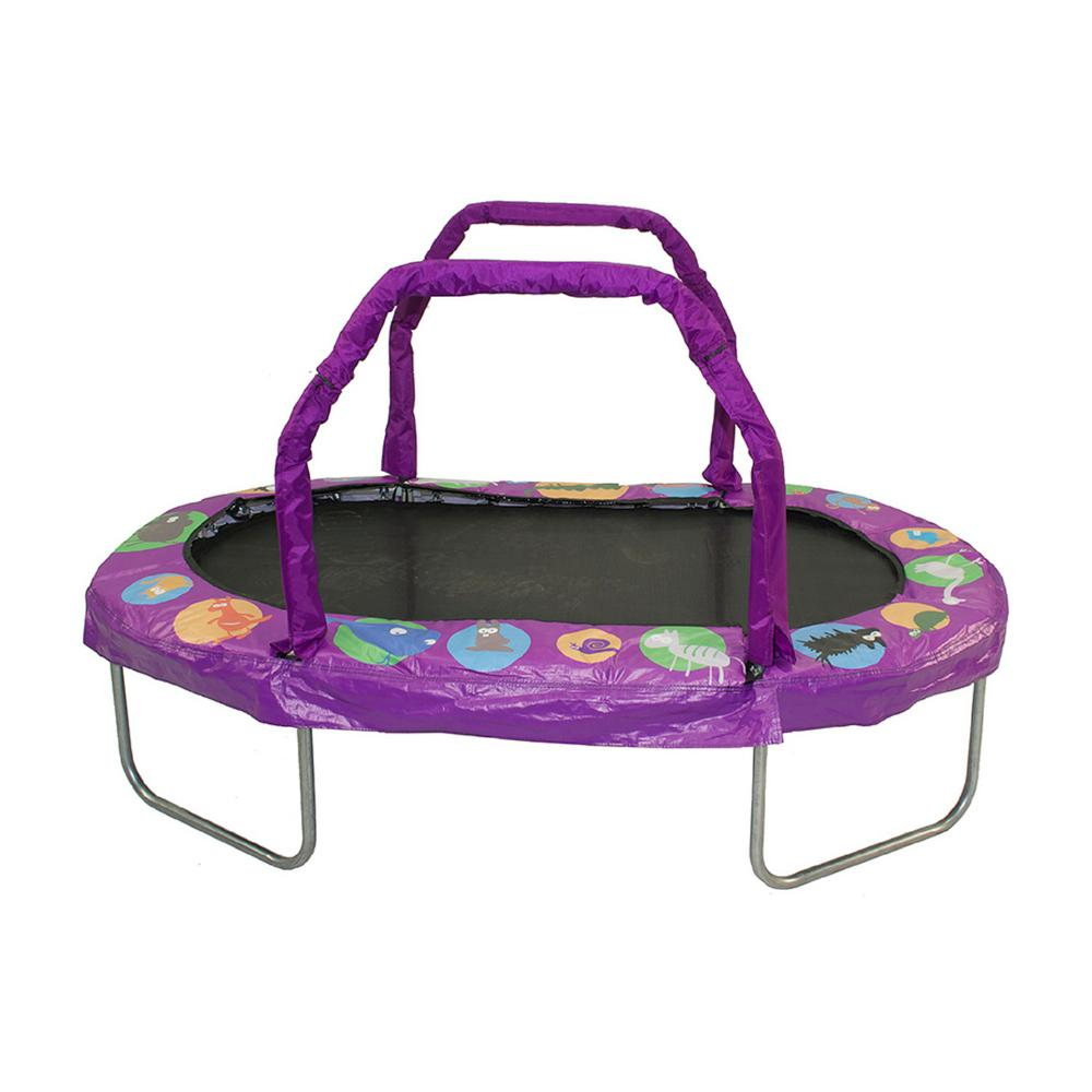 Jumpking 38 in. by 66 in. Purple Mini Oval Trampoline