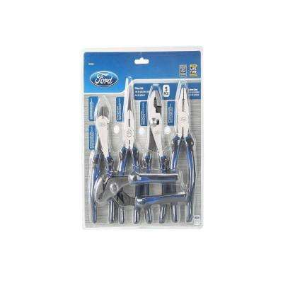 Ford 7 in. and 8 in. Assorted Plier Set (5-Piece)