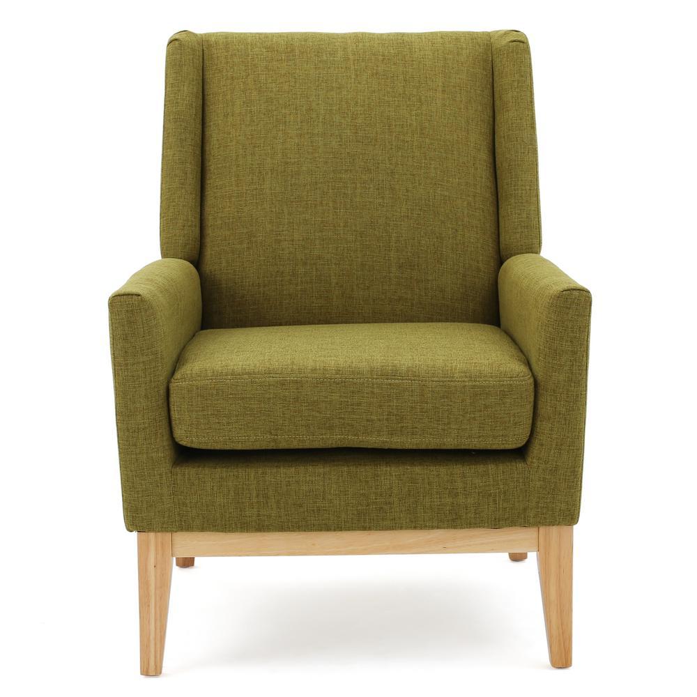 Aurla Green Fabric Accent Club Chair