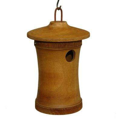 11 in. Mango Wood Bluebird Bird House