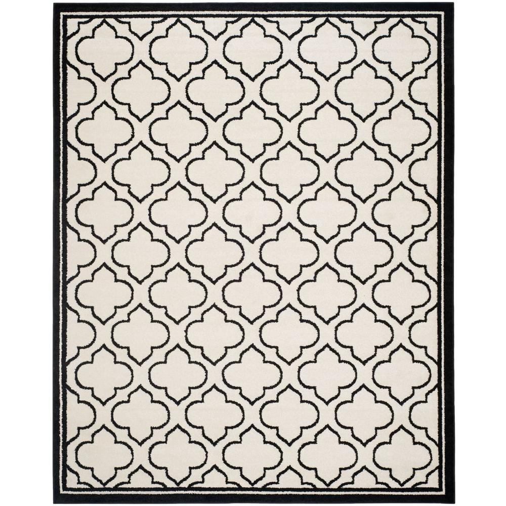 Amherst Ivory/Anthracite 8 ft. x 10 ft. Indoor/Outdoor Area Rug