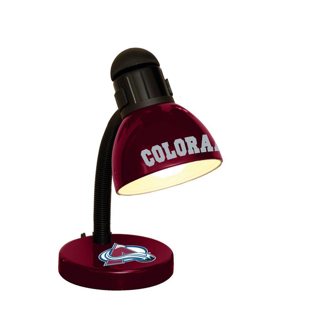 The Memory Company 14.7 in. NHL Desk Lamp - Colorado Avalanche-DISCONTINUED