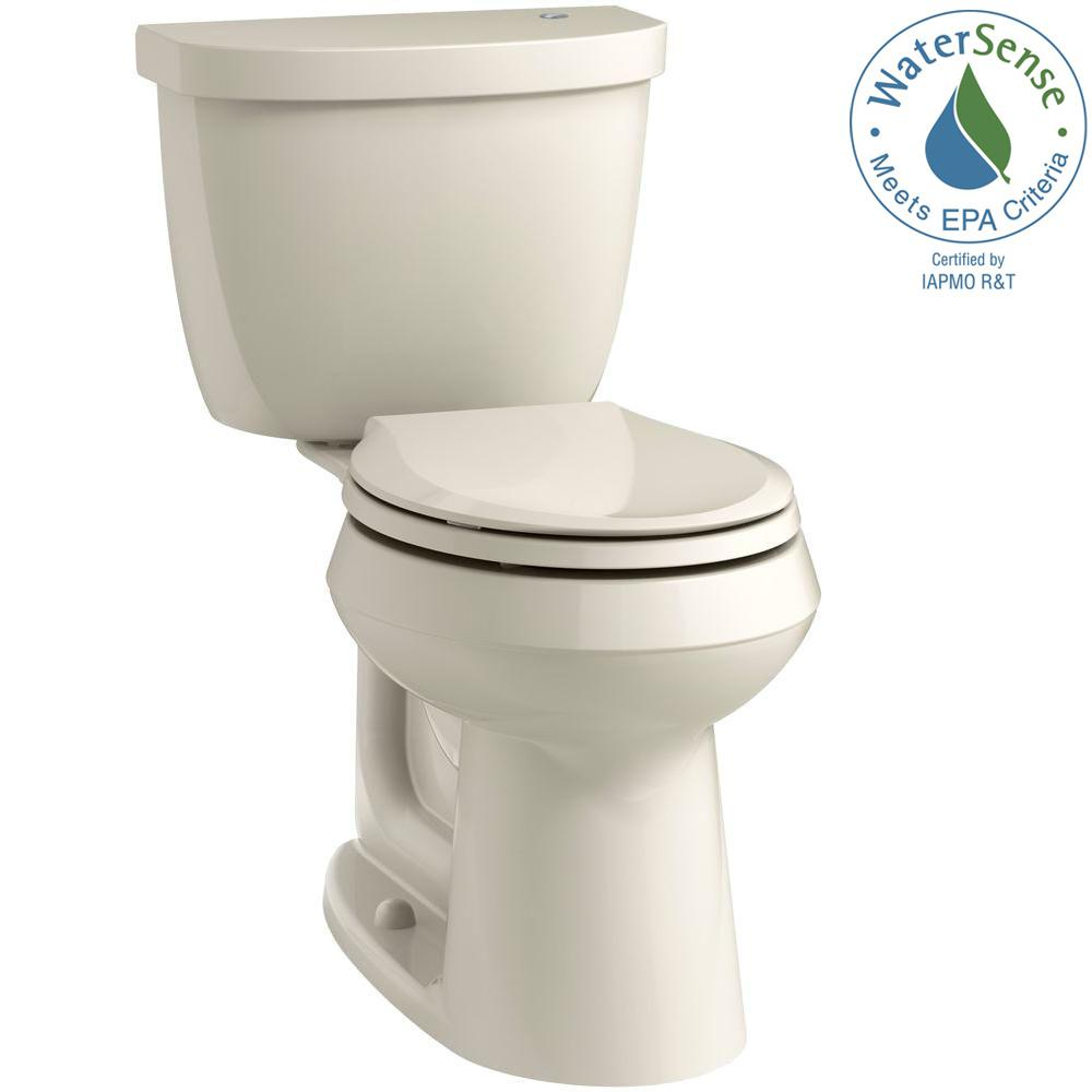 Cimarron Touchless Comfort Height 2-Piece 1.28 GPF Single Flush Round Toilet
