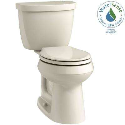 Cimarron Touchless Comfort Height 2-Piece 1.28 GPF Round Toilet with AquaPiston Flushing Technology in Almond