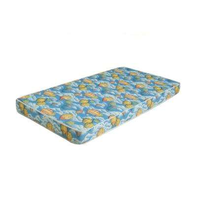 Bunk Bed or Dorm Firm Comfort 5 in. Mattress with Balloon Print - Twin