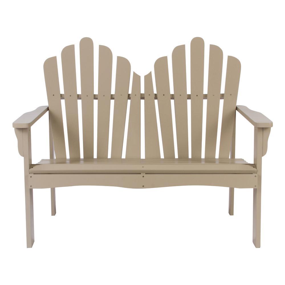 Westport Cedar Wood Outdoor Loveseat Bench 43.50 in. - Taupe Gray