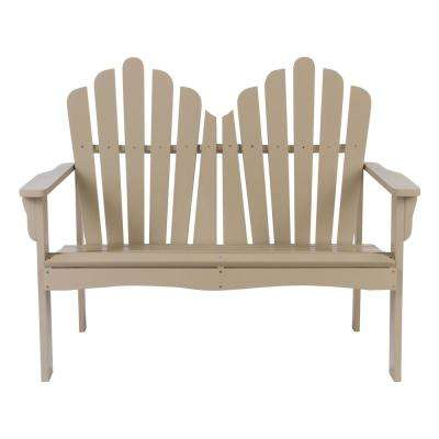 Westport Cedar Wood Outdoor Loveseat Bench 43.50 in. - Taupe Gray