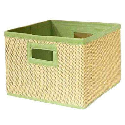 13 in. x 8 in. Cream and Lime Green Storage Baskets (Set of 3)