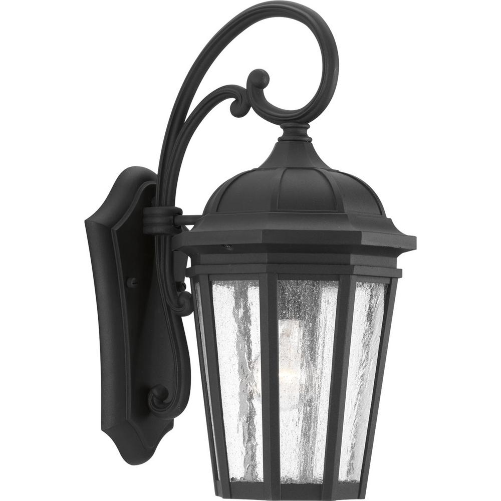 Progress Lighting Mac Collection 1 Light Black Outdoor: Progress Lighting Verdae Collection 1-Light Outdoor Black