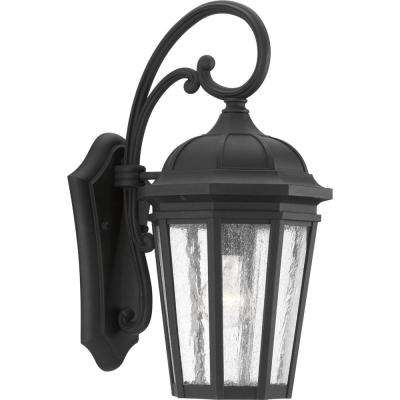 Verdae Collection 1-Light Outdoor Black Wall Lantern
