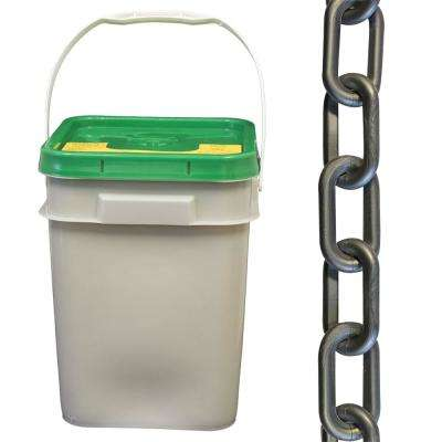 2 in. (#8, 51 mm) x 160 ft. Pail Silver Plastic Chain