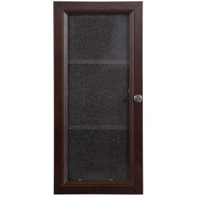Delridge 13 in. W x 30 in. H Surface-Mount Modular Wall Hutch in Chocolate