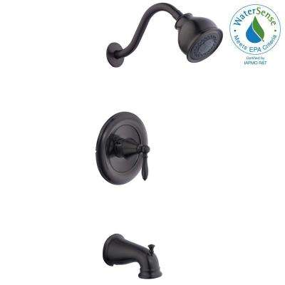 Varina Single-Handle 3-Spray Tub and Shower Faucet in Bronze