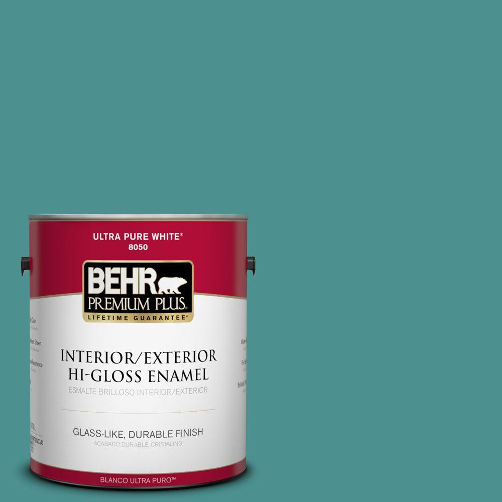 1-gal. #500D-6 Mirage Lake Hi-Gloss Enamel Interior/Exterior Paint