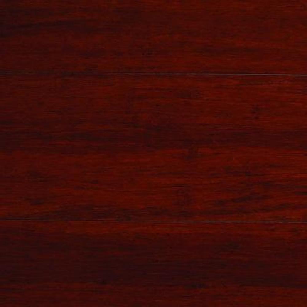 Take Home Sample - Strand Woven Mahogany Click Lock Bamboo Flooring - 5 in. x 7 in.
