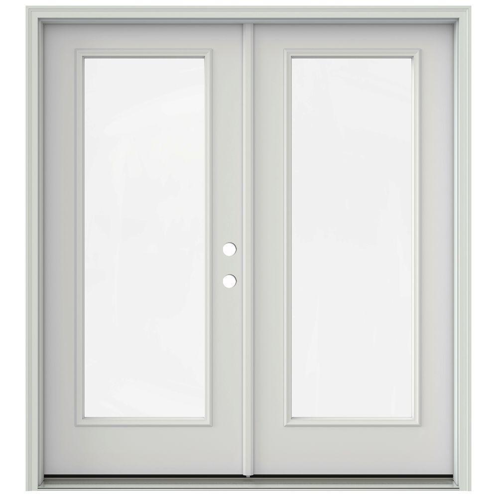 Jeld Wen 72 In X 80 In Primed Prehung Left Hand Inswing 1 Lite French Patio Door With