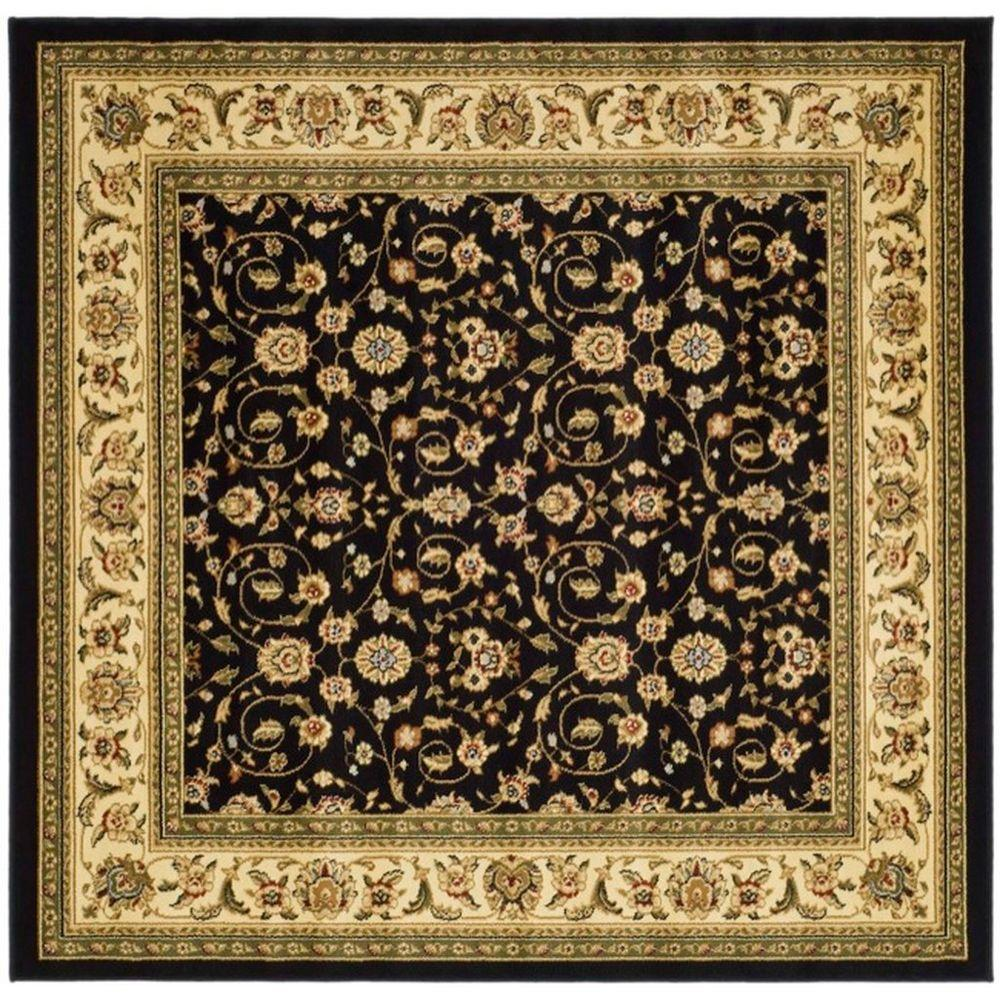 Safavieh Lyndhurst Black Ivory 6 Ft X 6 Ft Square Area