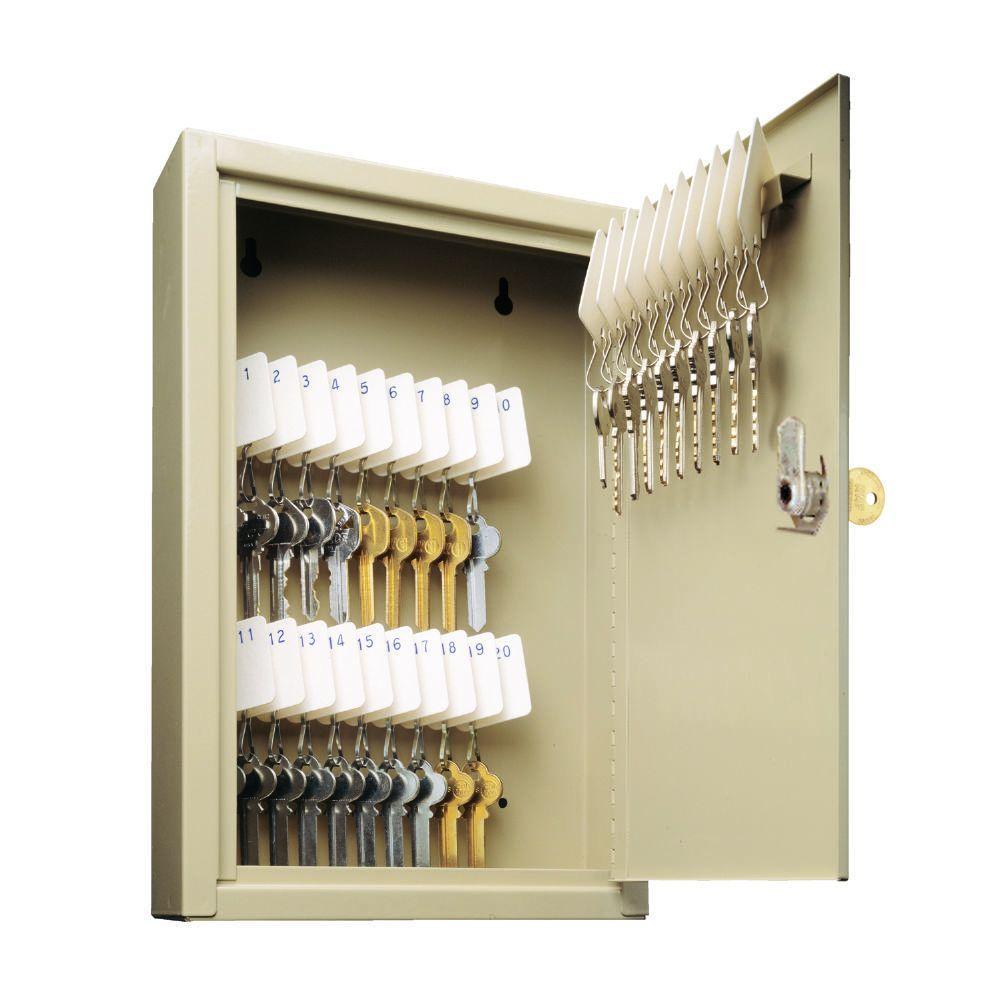 Uni-Tag Key Cabinet safe with 200-Key capacity, Sand