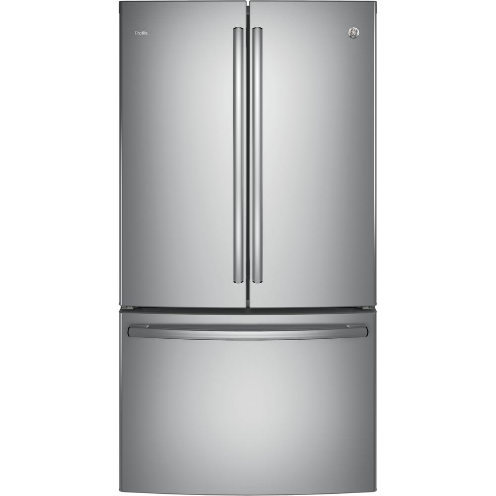 Profile 36 in. W 23.1 cu. ft. French Door Refrigerator in