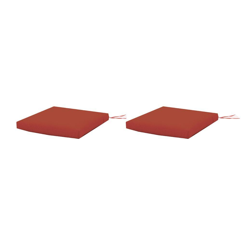 Martha Stewart Living Charlottetown Quarry Red Replacement Outdoor Rocking Chair  Cushion (2 Pack)