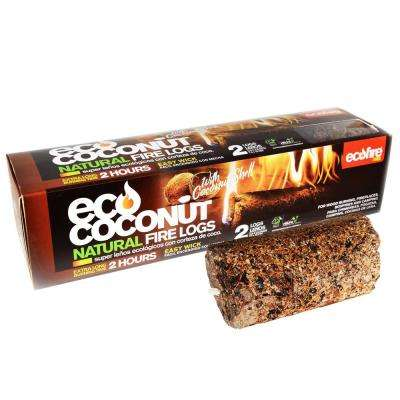 Ecofire Eco Coconut Super Fire Log 2-Hour Burn Time (6-Pack)