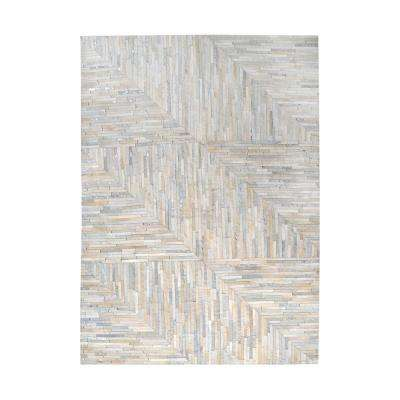 Karim Pearl and Grey 3 ft. x 5 ft. Indoor Area Rug