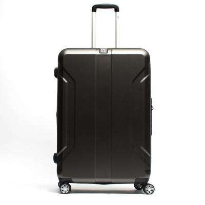 Payload 24 in. Charcoal Upright ABS Plastic Hard Case Spinner Rolling Luggage Suitcase