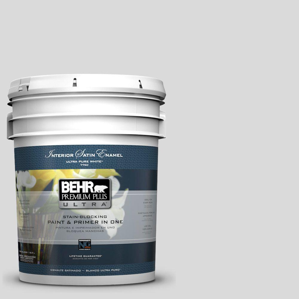 5 gal. #790E-1 Subtle Touch Satin Enamel Interior Paint and Primer