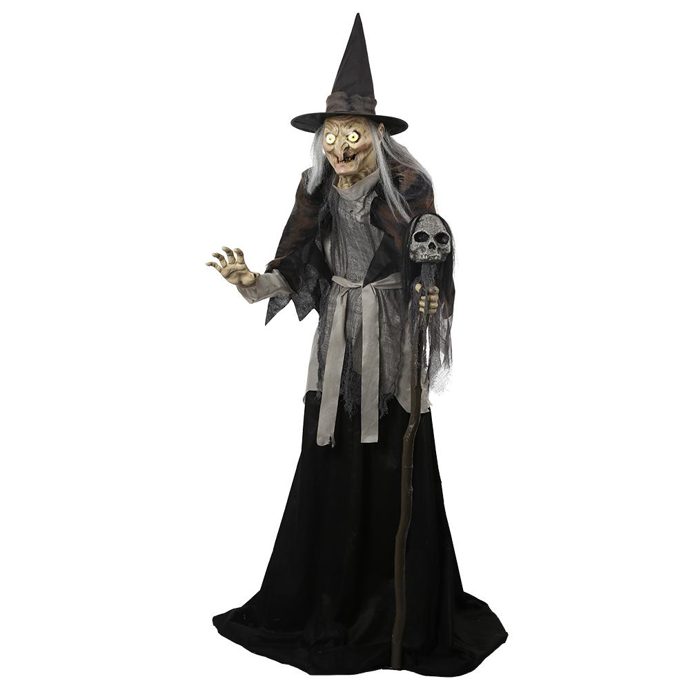 Home Accents Holiday 77.75 in. High Lunging Haggard Witch-5127085 ...