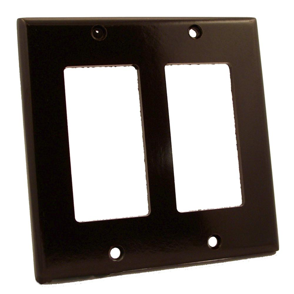 2-Gang Decora Wall Plate, Brown
