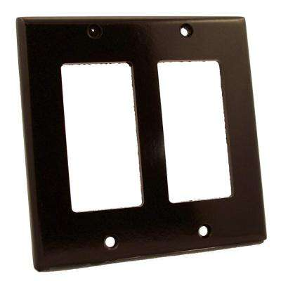 Decora 2-Gang Rocker Wall Plate, Brown