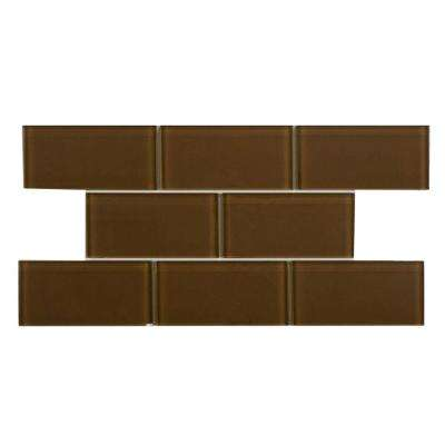 Tessera Subway Earth 3 in. x 6 in. Glass Wall Tile (1 sq. ft. / pack)
