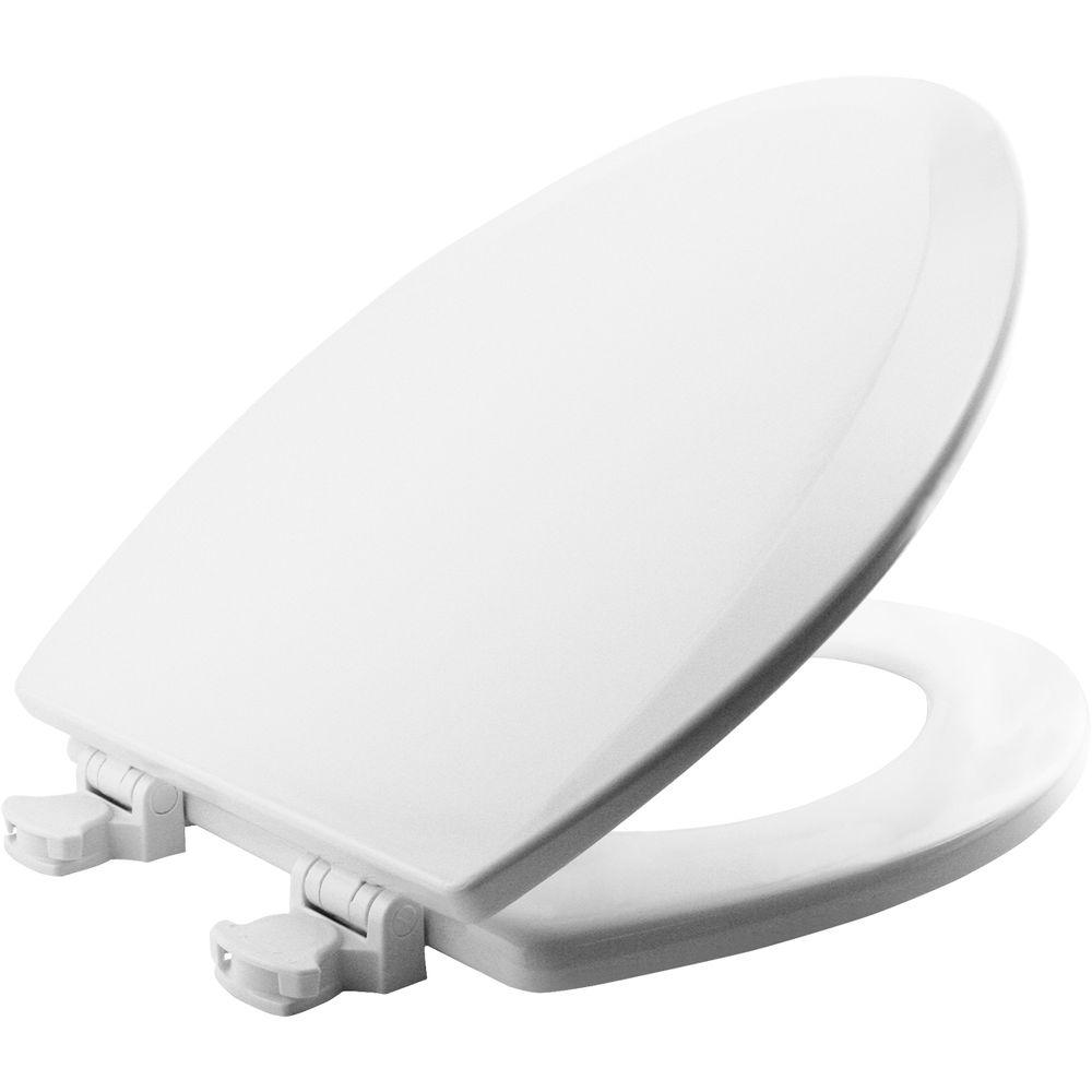 Lift-Off Elongated Closed Front Toilet Seat in White