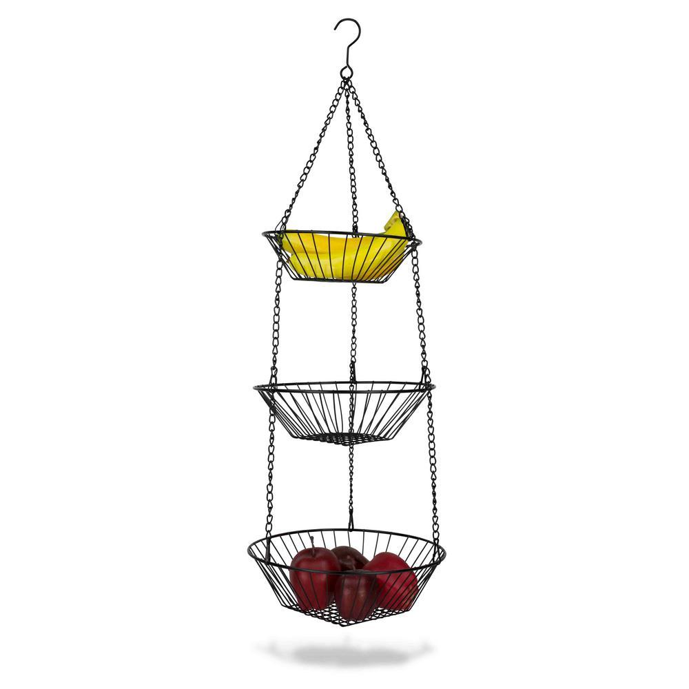 Home Basics 3-Tier Hanging Basket