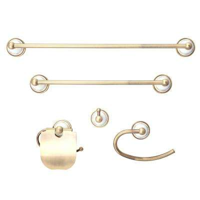 Arlington Series 5-Piece Bath Hardware in Antique Brass
