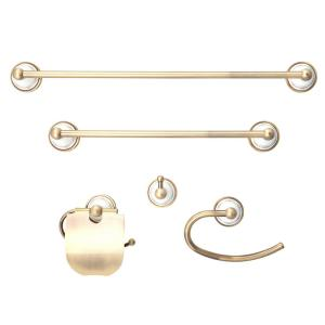 Dyconn Arlington Series 5-Piece Bath Accessory in Antique Brass by Dyconn