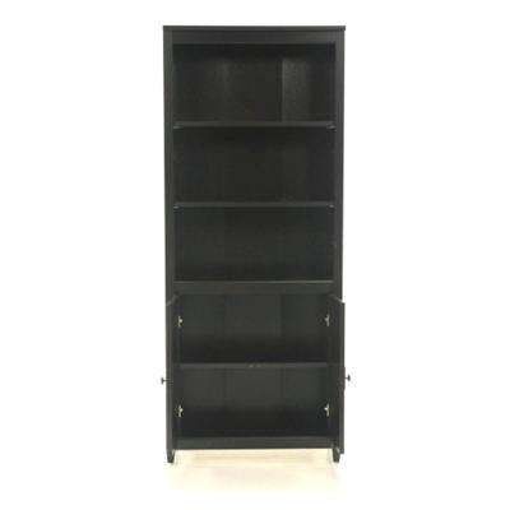 Edge Water Estate Black Storage Open Bookcase