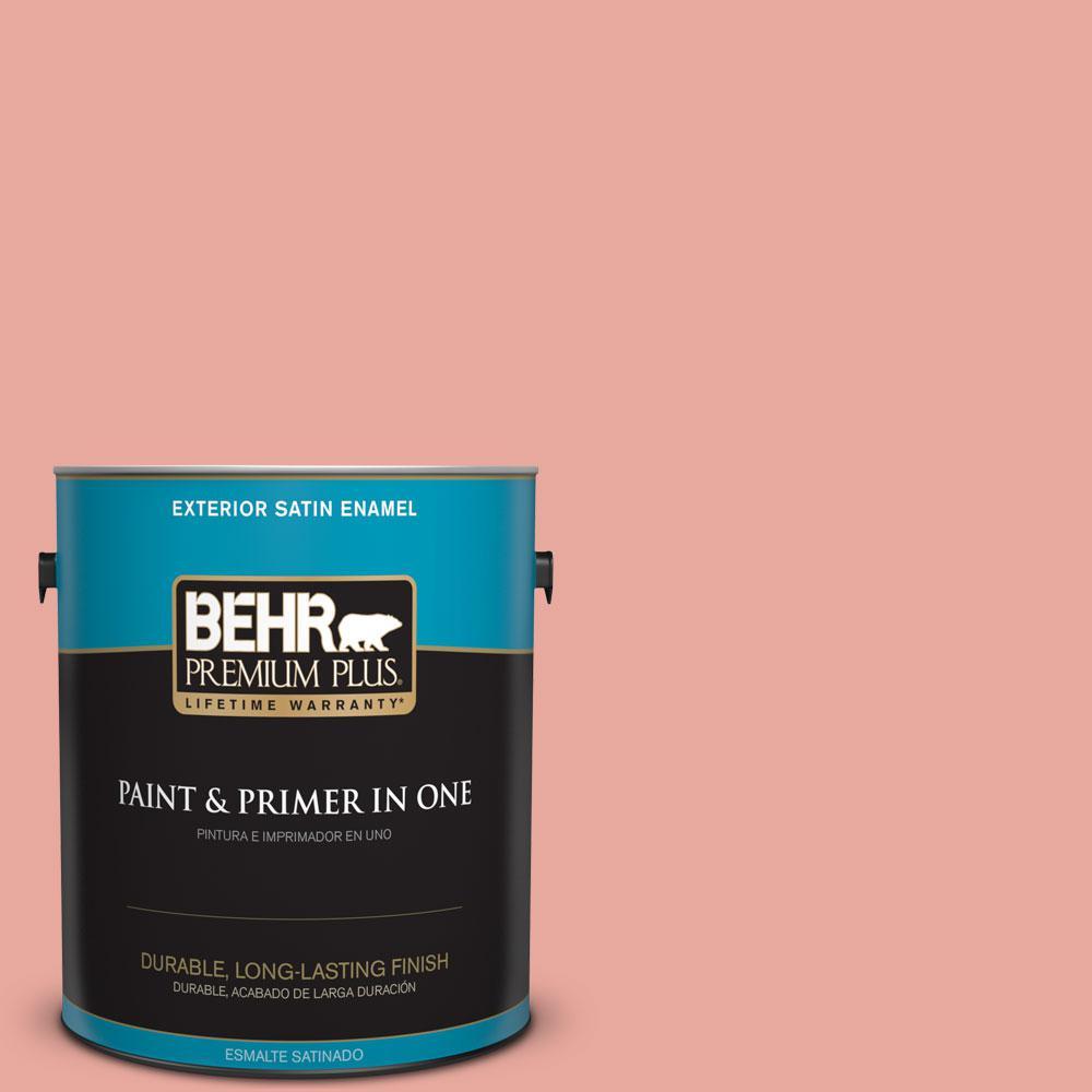 BEHR Premium Plus 1-gal. #M170-4 Passion Fruit Punch Satin Enamel Exterior Paint