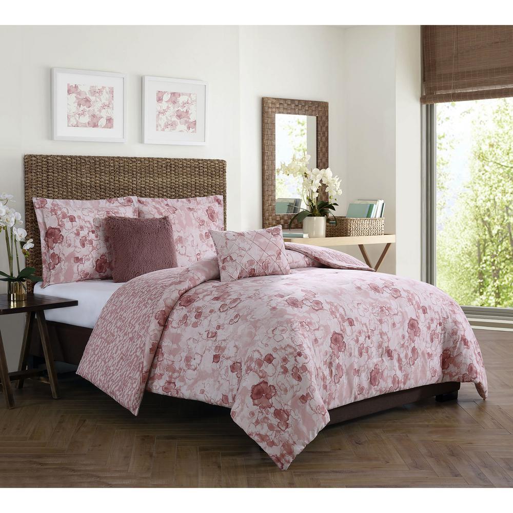 Moonlight 5-Piece Blush King Comforter Set