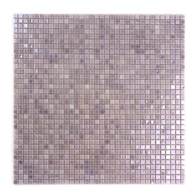 Galaxy Polaris Purple Square Mosaic 0.3125 in. x 0.3125 in. Iridescent Glass Wall Tile (0.98 Sq. ft.)