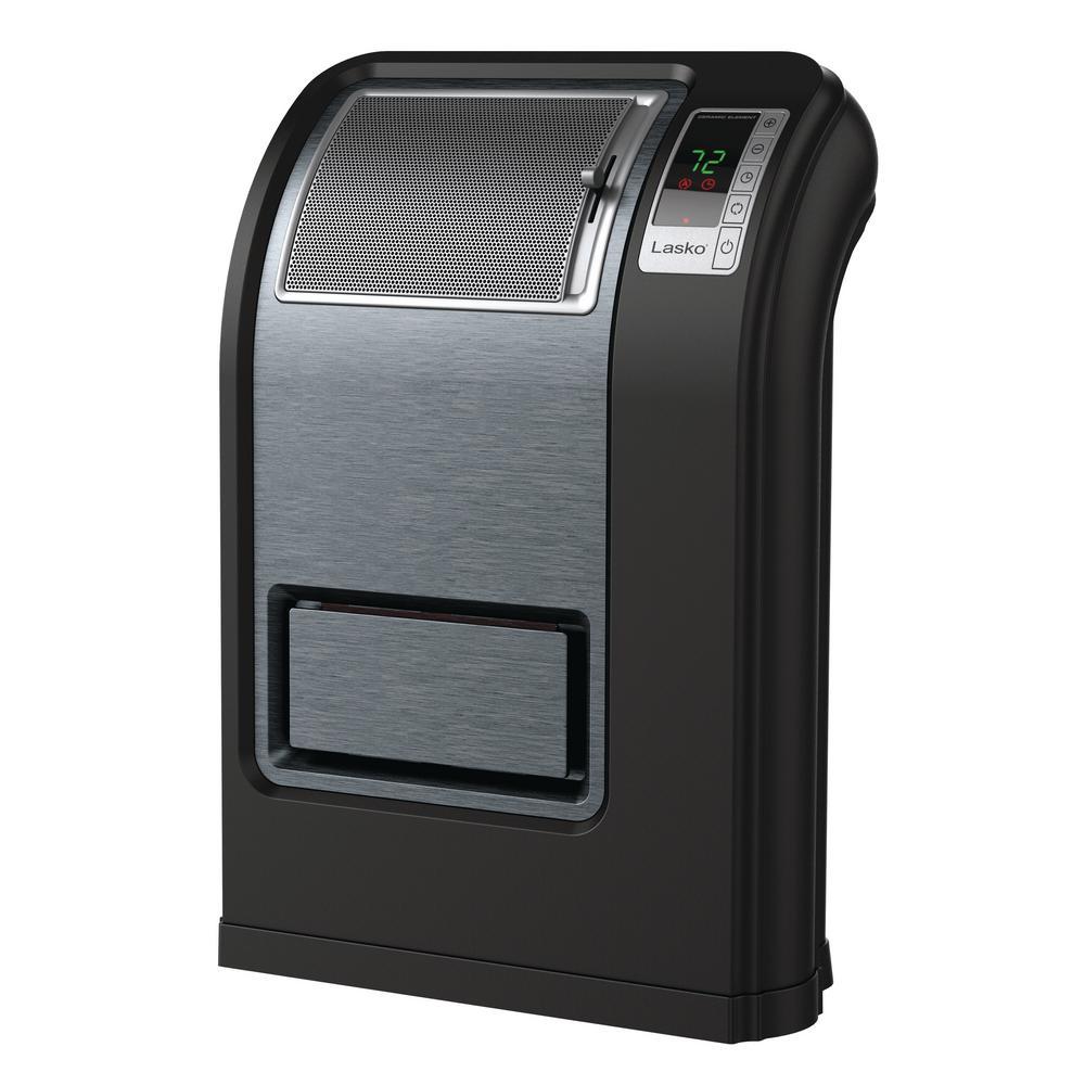 Cyclonic 1500-Watt Ceramic Electric Ceramic Portable Heater with Digital Display