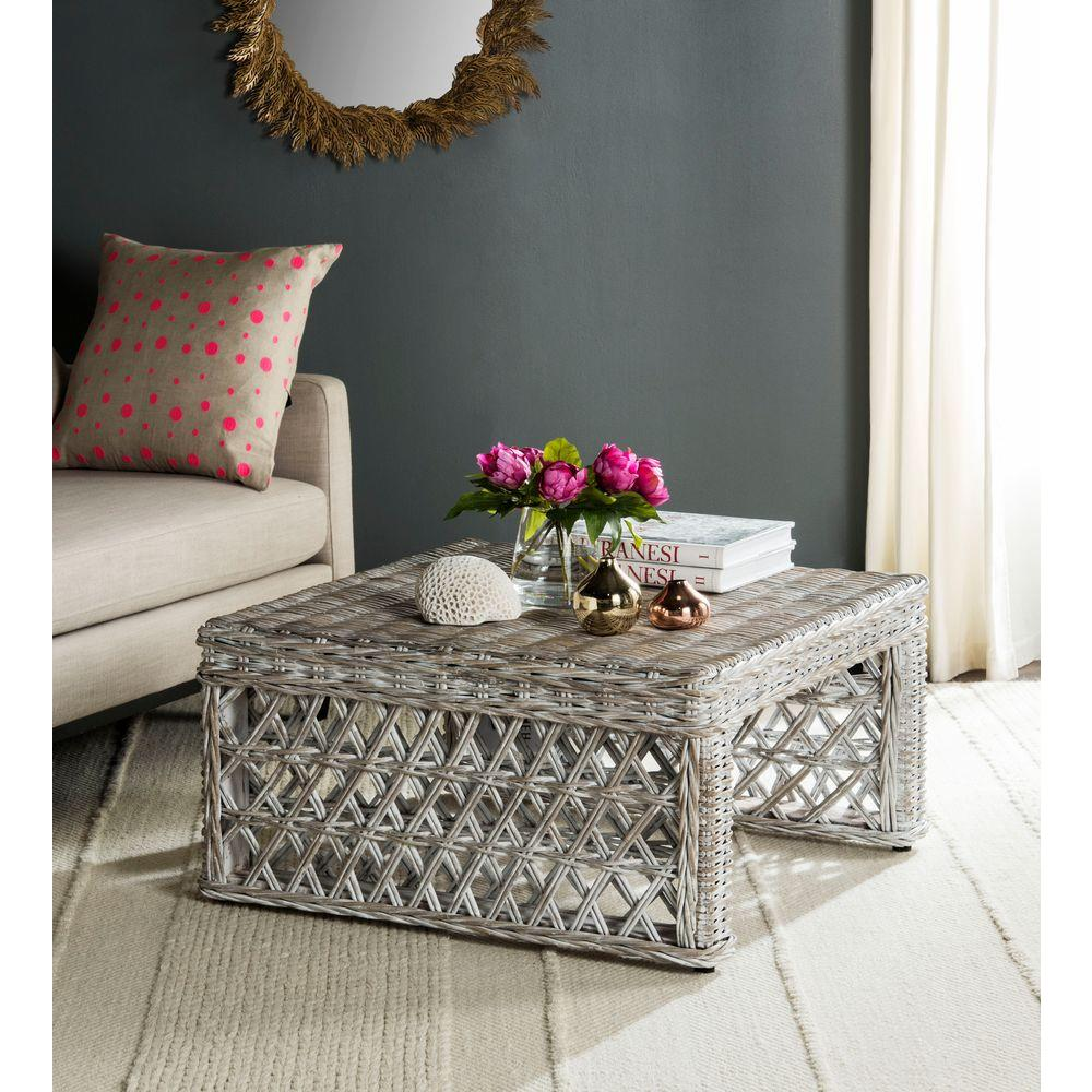 Great Safavieh Shila White Washed Coffee Table